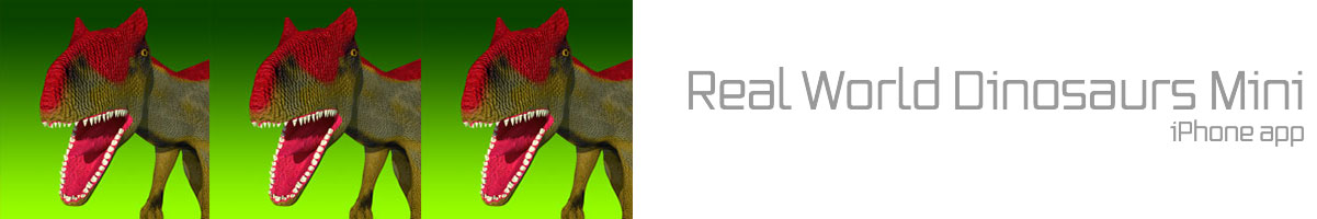 Real World Dinosaurs Mini iPhone App
