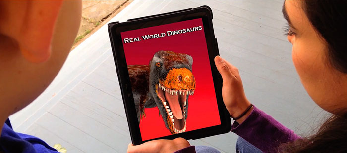 Using Real World Dinosaurs iPad App